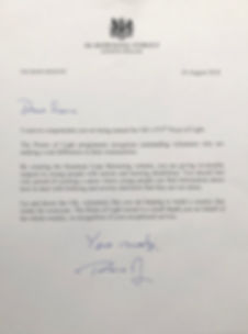 Letter from Prime Minister Theresa May to Siena Castellon