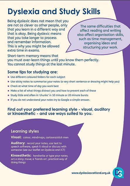 Dyslexia & Study Skills