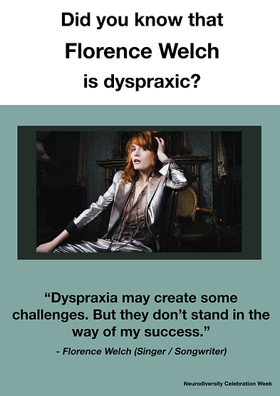 Florence Welch Dyspraxia Poster