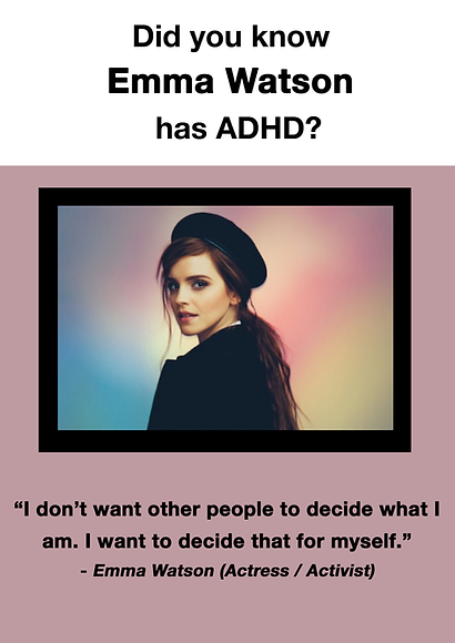 Emma Watson - ADHD Poster