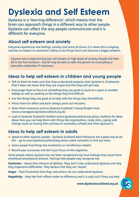 Dyslexia & Self Esteem