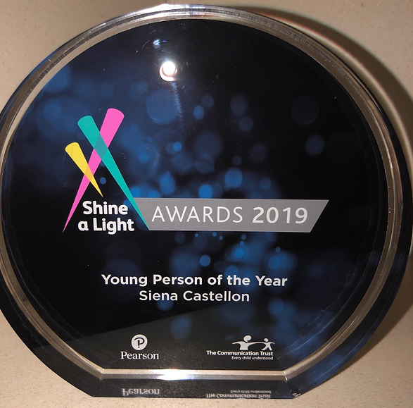 Siena Castellon - Young Person of the Year Award
