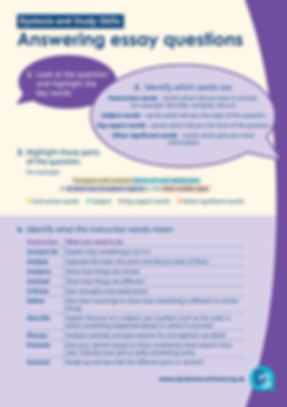 Dyslexia: Answering Essay Questions Study Skills