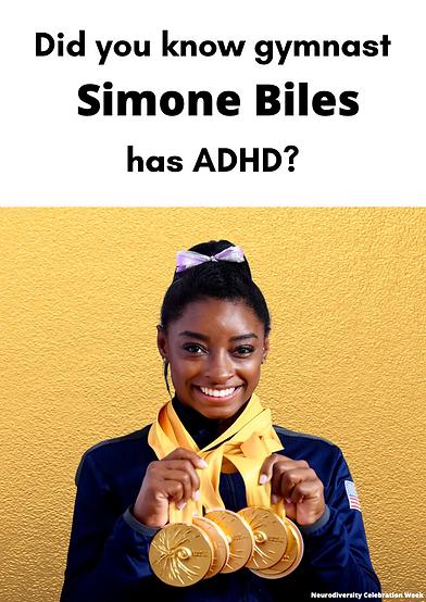 Simone Biles ADHD Poster