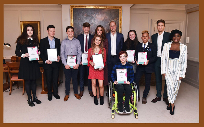Siena Castellon and BBC Radio 1 Teen Heros at Kensington Palace