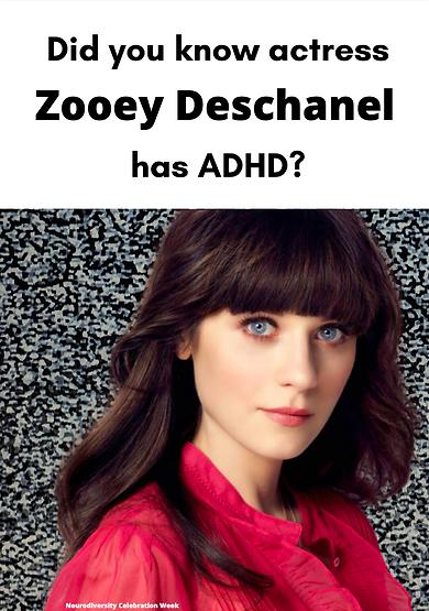 Zooey Deschanel ADHD Poster