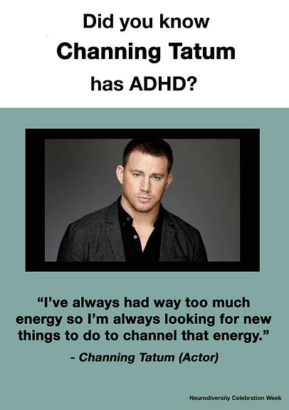 Channing Tatum - ADHD Poster