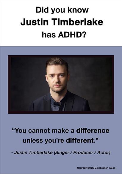 Justin Temberlake - ADHD Poster