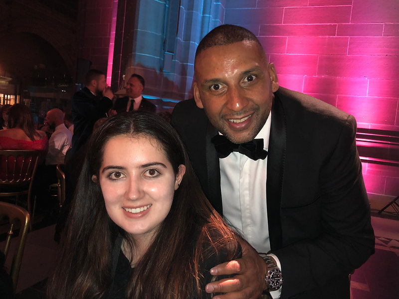 Siena Castellon & Paul Sesay (CEO of the National Diversity Awards)