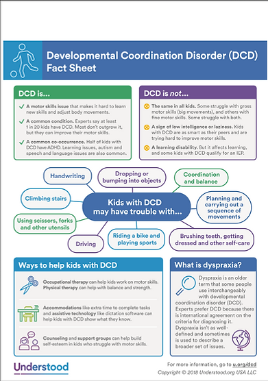 Dyspraxia / DCD Fact Sheet