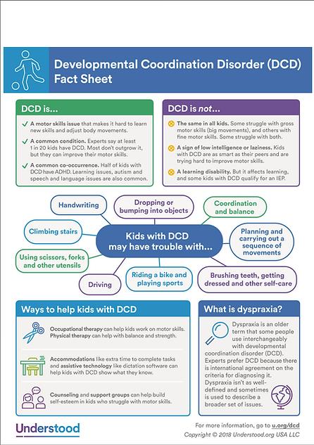 Dyspraxia / DCD Fact Sheet