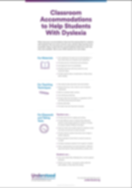 Dyslexia: Classroom Accommodations
