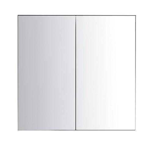 """30"""" Espresso Medicine Cabinet with Glass (fully closure)"""