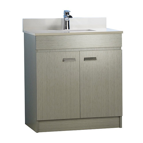 """31"""" Multi-Layer Plywood Grey Vanity with Stone Top"""