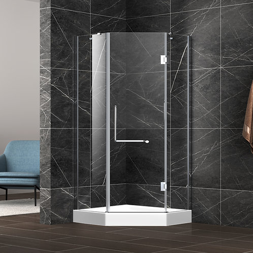 "36""/42"" Neo-angle SHOWER GLASS AND DOOR"