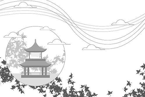 illustration 1 - Autumn Pavilion
