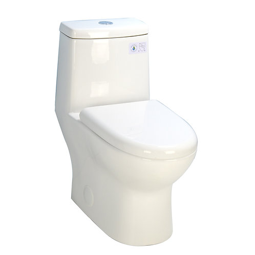 One-Piece Dual-Flush Fully Concealed Toilet
