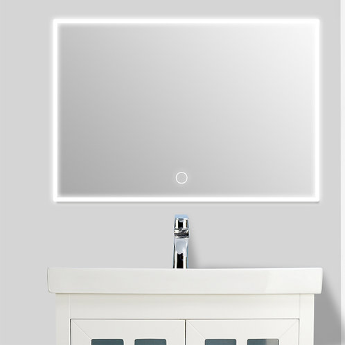 Outer LED Light Wall Mirror (Square)