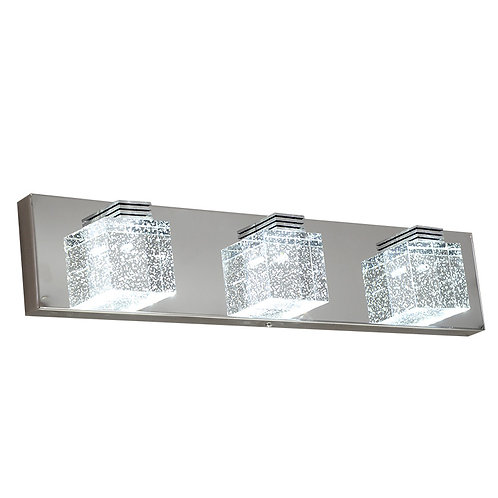 Bubble Cube 3-Glass Cube LED Integrated Vanity Light