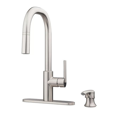 Pfister 1-Handle Pull-Down Kitchen Faucet with Soap Dispenser
