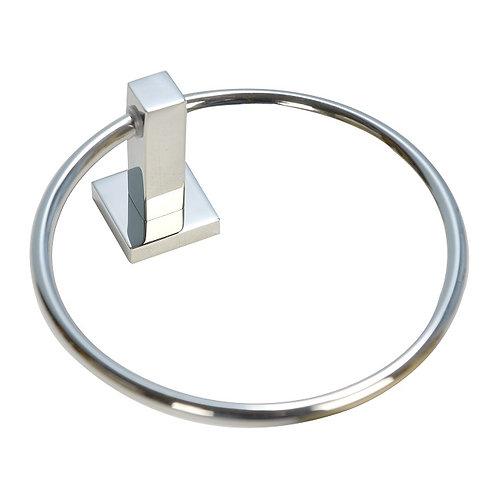 Square Base Towel Ring (Chrome)