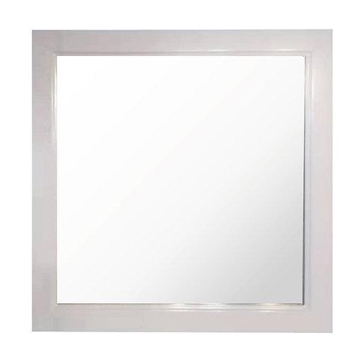 """24"""" to 48"""" Full-Framed Mirror (White)"""