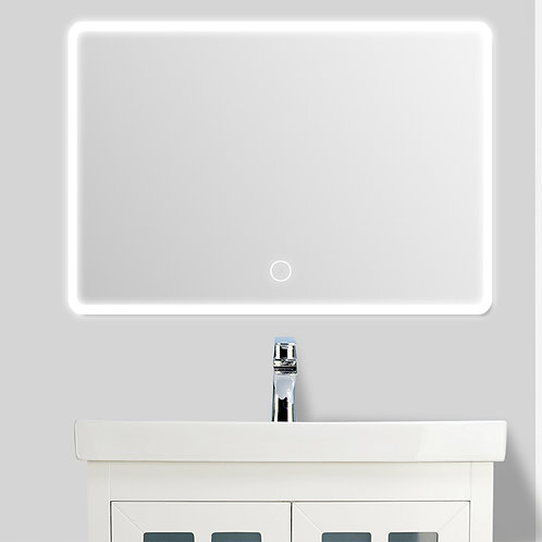 Outer LED Light Wall Mirror (Round Corner)