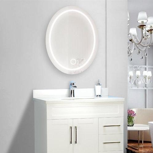 "24"" LED Oval Bathroom Wall Mirror"
