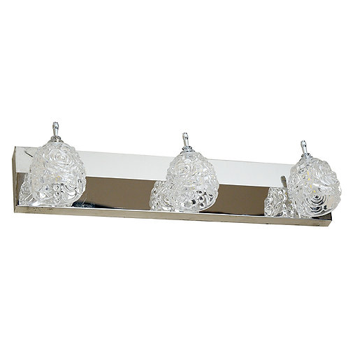 Luxury Style 3-Glass Rose LED Integrated Vanity Light
