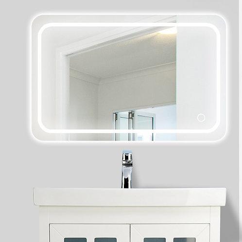 LED Round Corner Bathroom Wall Mirror