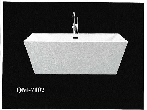 "67"" Freestanding Acrylic Bathtub in White"