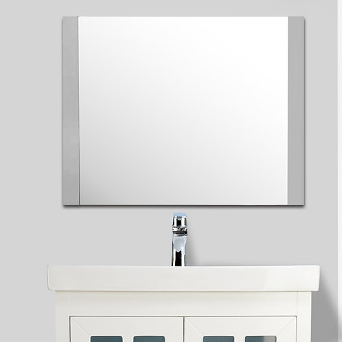 """24"""" to 72"""" Double-Side Framed Mirror (Grey)"""