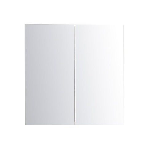"24"" White Medicine Cabinet with Glass (fully closure)"
