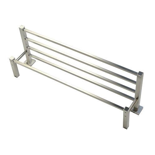 5-Bar Square Base Towel Shelf (Brush Nickel)