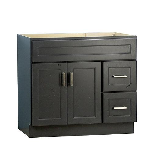 "36"" Dark Blue Solid Wood Cabinet (Custom made)"