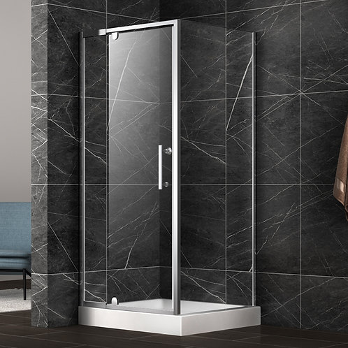 "36"" x 36"" x 75"" 8MM Tempered Shower Glass and Door"
