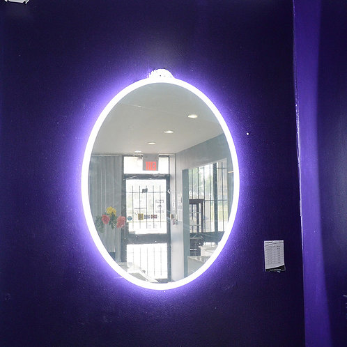 "24"" Oval LED Bathroom Wall Mirror"