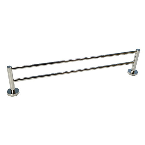 Double-Bar Round Towel Rack with Chrome finish
