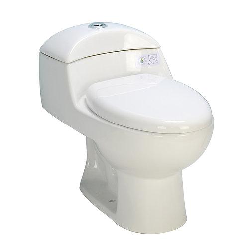 One-Piece Dual-Flush Toilet