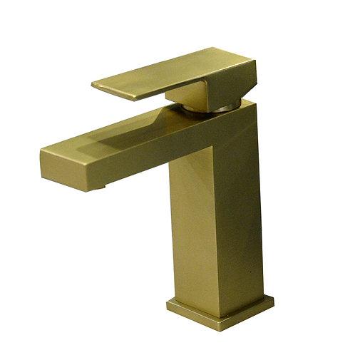 Square Single Hole Faucet (Golden)