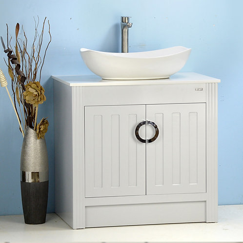 """32"""" Vessel Sink Vanity with Man-made Stone Top"""