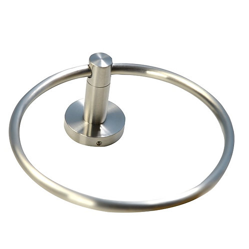 Round Base Towel Ring (Brushed Nickel)