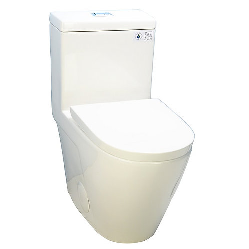 One-Piece Fully Concealed Dual-Flush Toilet
