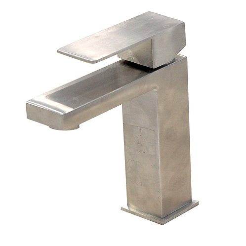 Square Single Hole Faucet (Brush Nickel)