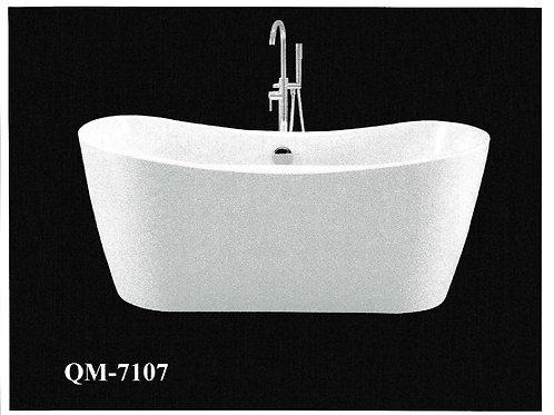 "62"" Freestanding Acrylic Bathtub in White"