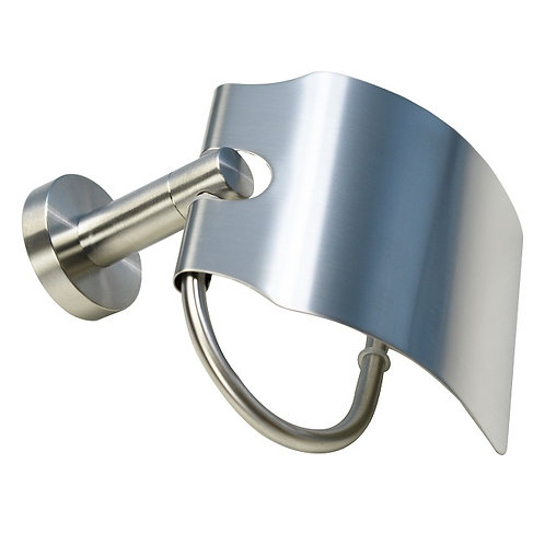Covered Round Toilet Paper Holder (Brushed Nickel)