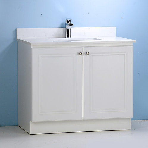 """36"""" White Cabinet with Double Doors (Customized)"""