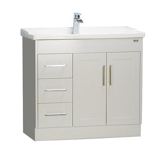 """36"""" Shaker door style Gray Vanity with Ceramic Top"""