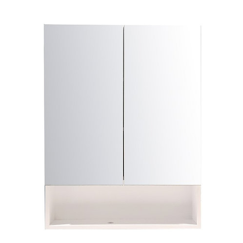 "30"" White Medicine Cabinet with Glass"