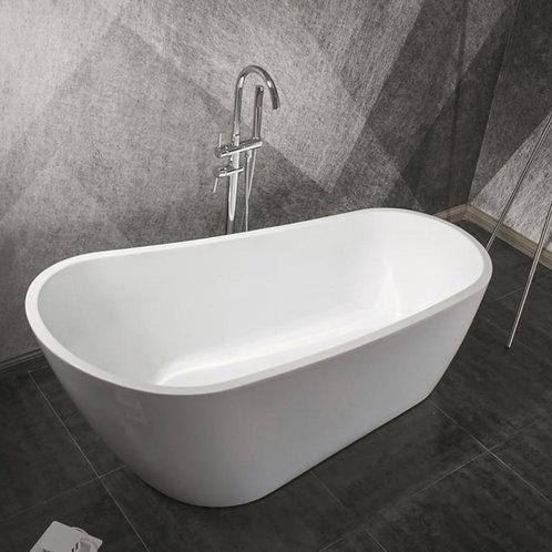 "60"" Freestanding Acrylic Bathtub in White"